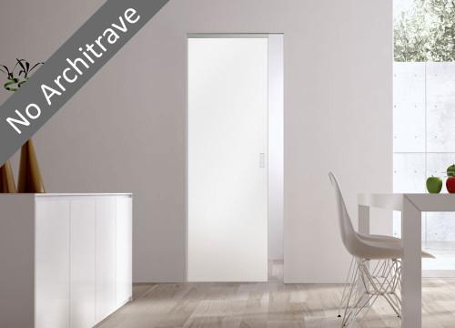 Syntesis® Flush Glass Pocket Door System Plain SATIN