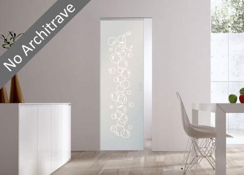 Syntesis® Flush Glass Pocket Door System Patterned BOLLE