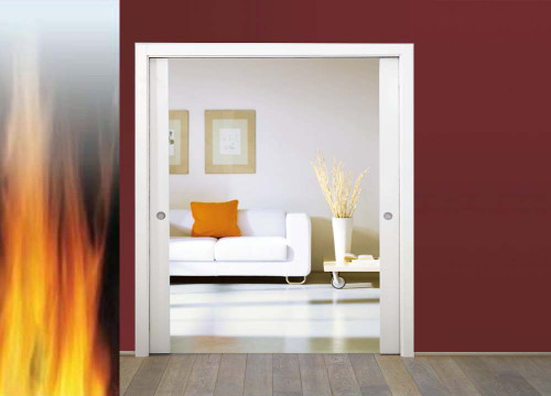 ECLISSE Classic DOUBLE FIRE-RATED Pocket Door System- FD30