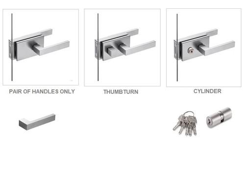York Door Handle Range (For Glass Hinged Door)