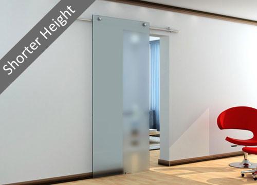 VETROGLIDE MINIMA WALL MOUNTED SLIDING GLASS DOOR SYSTEM- shorter height