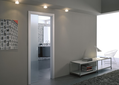 A Great Value Eclisse Glass Pocket Door System