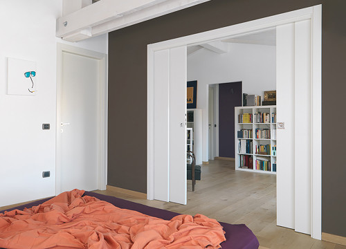 Genial Create Multi Functional Spaces With A Double Telescopic Pocket Door System,  For Example A ...