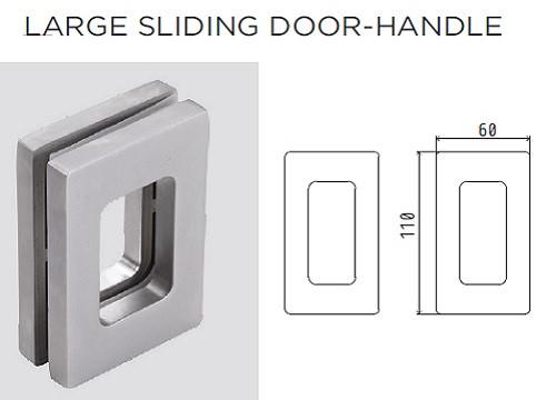 Glass Door Handle Large Pull Handle V 511 Eclisse Uk