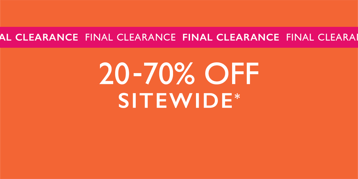 20-70% OFF SITEWIDE