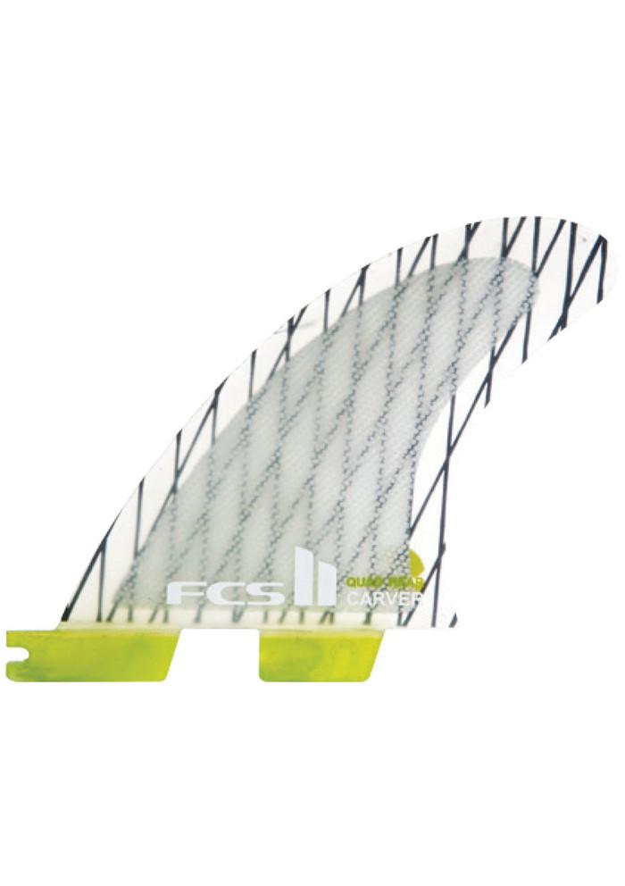 FCS II Fins Carver Quad Rears PC Carbon Fins