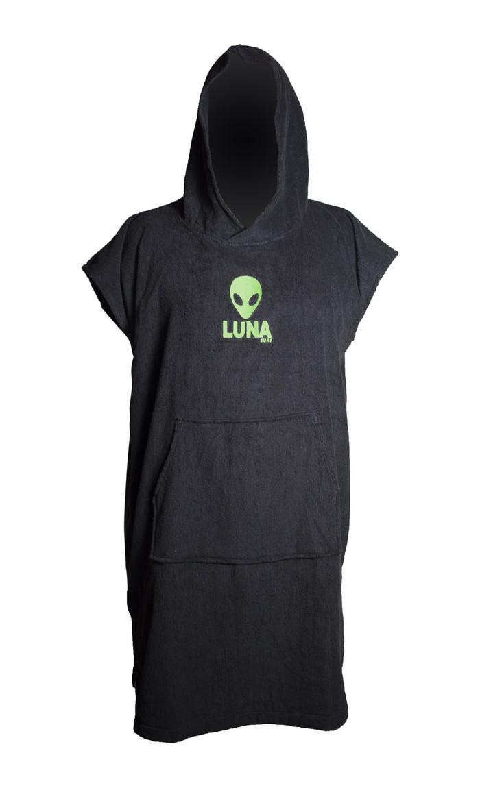 LUNASURF Change Robe Black Green Logos