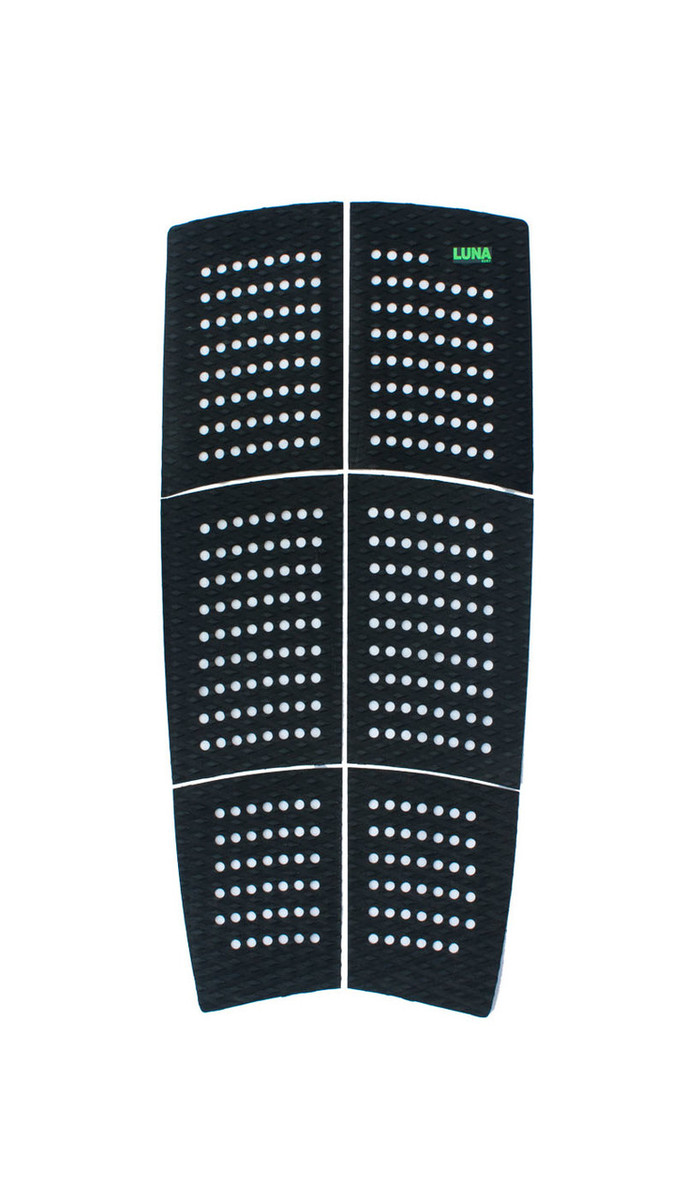 LUNASURF SUP Deck Pad / Longboard Deck Grip Black 6 Piece