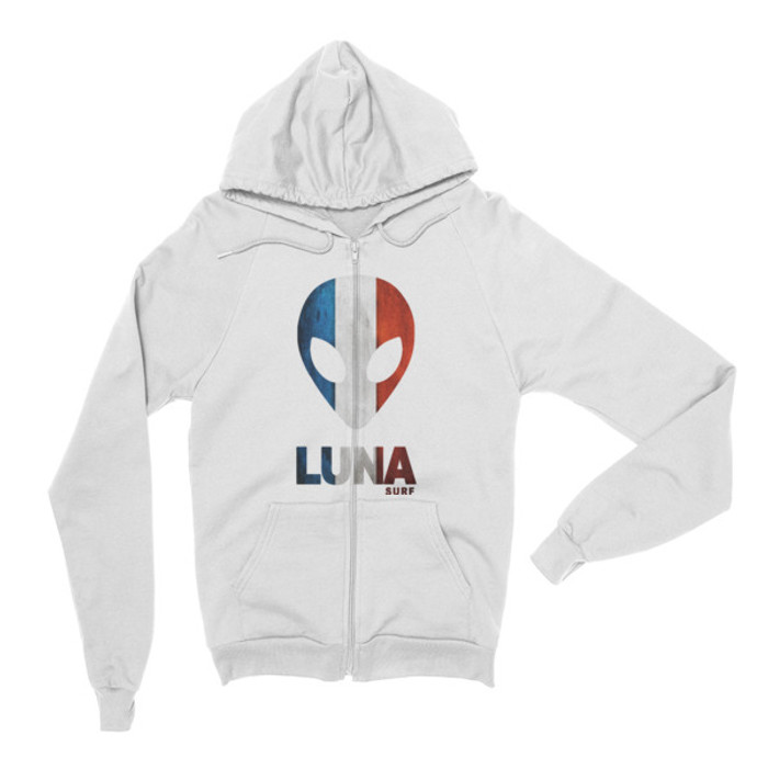 Luna Tricolour Zip Hoodie