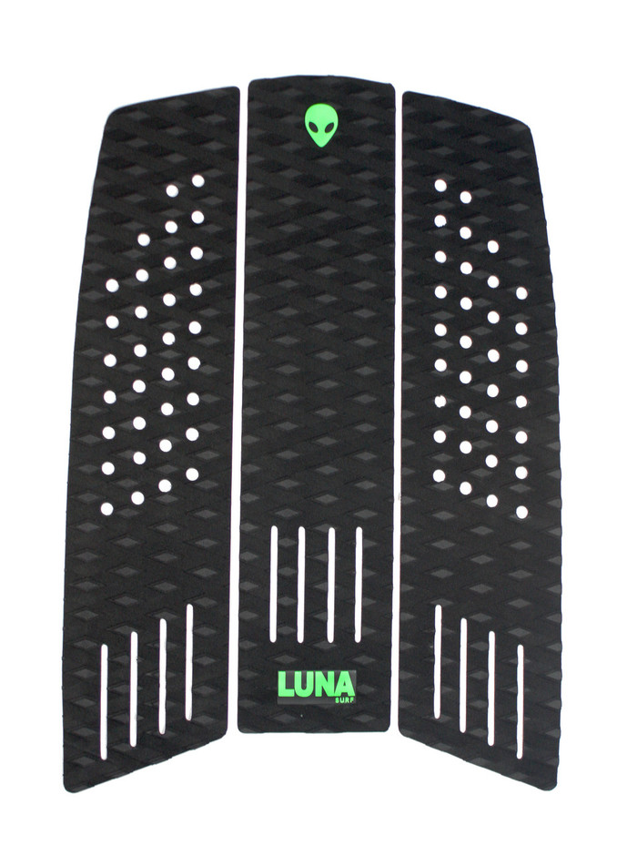 LUNASURF 3 Piece Surfboard Front Foot Pad Black