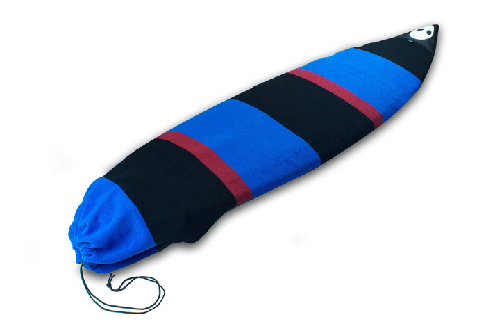 Lunasurf 6ft8 Surfboard Sock Black Red Blue