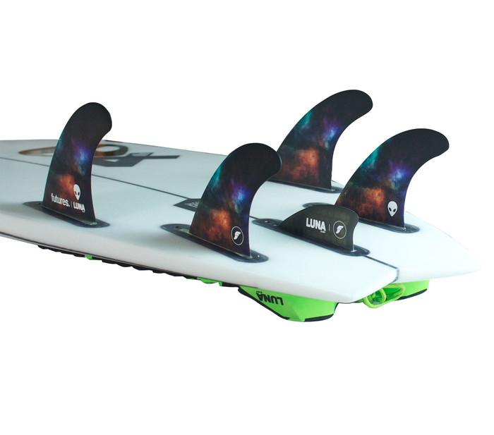 Lunasurf fins tri quad with knubster