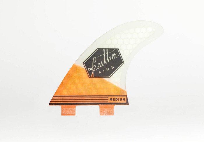 Ultralight Feather Fins Large Orange White Dual Tab