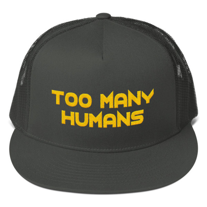 Too Many Humans Gold Mesh Back Snapback