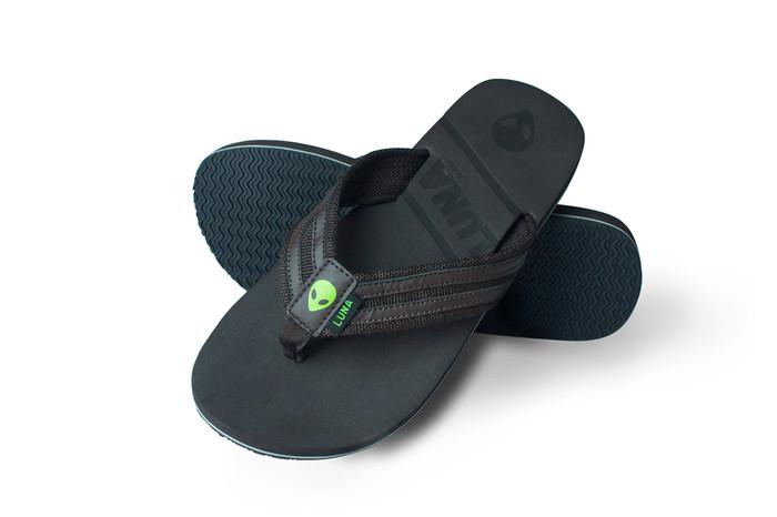 Lunasurf Flip Flops Brown Green