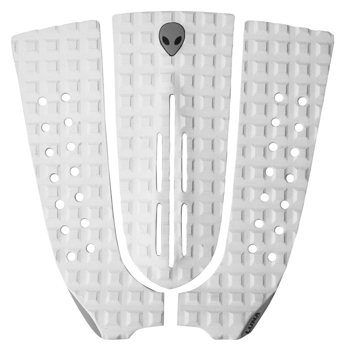 LUNASURF 3 Piece Long Arch Tail Pad White Grey