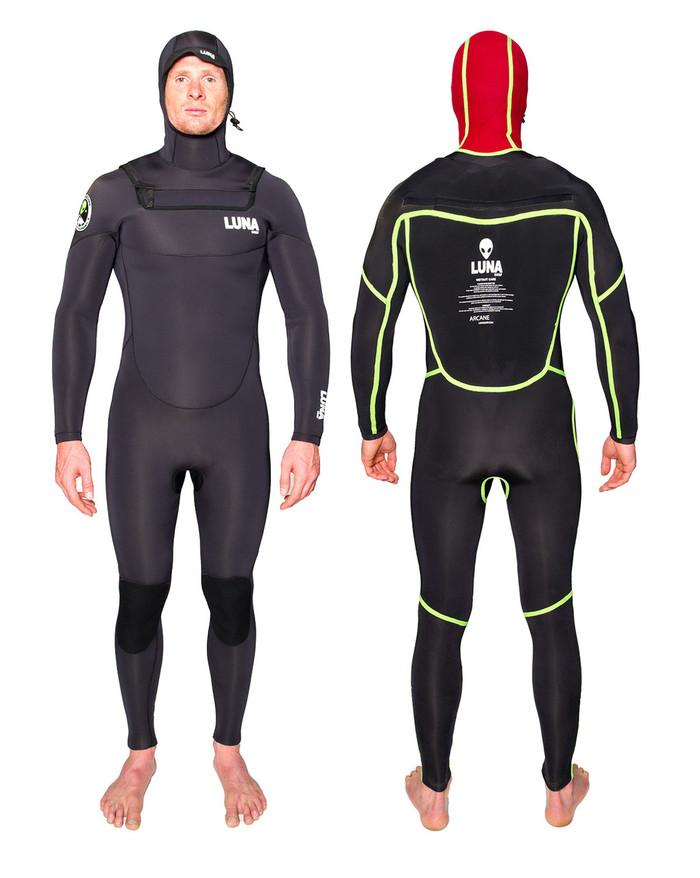 Lunasurf  Yamamoto all 4mm Hooded Winter Wetsuit Arcane Black