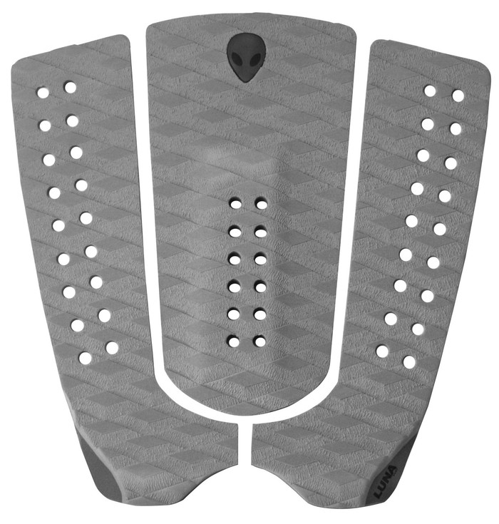 LUNASURF 3 Piece Tail Pad Two Tone Grey