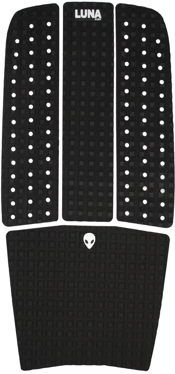 LUNASURF 4 Piece Surfboard Front Foot Traction Pad Black Surf