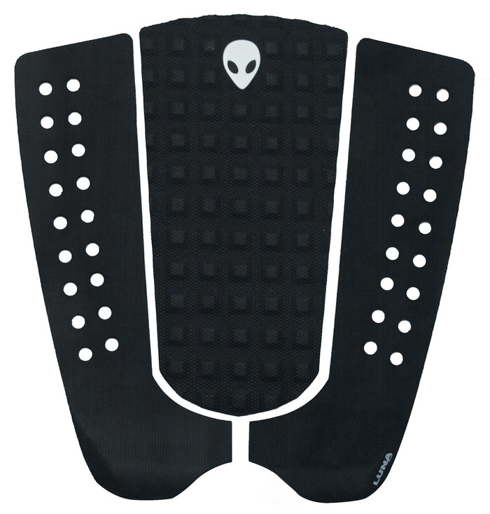 LUNASURF 3 Piece No Arch Tail Pad Black Mixed Groove