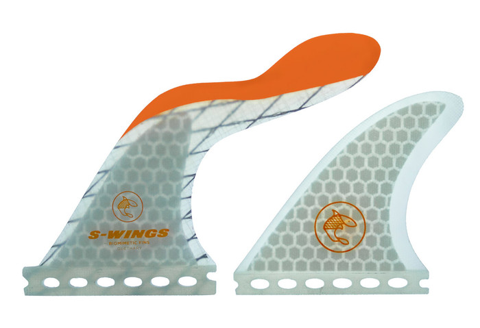 S Wings SW 500 Orange Thruster Fins