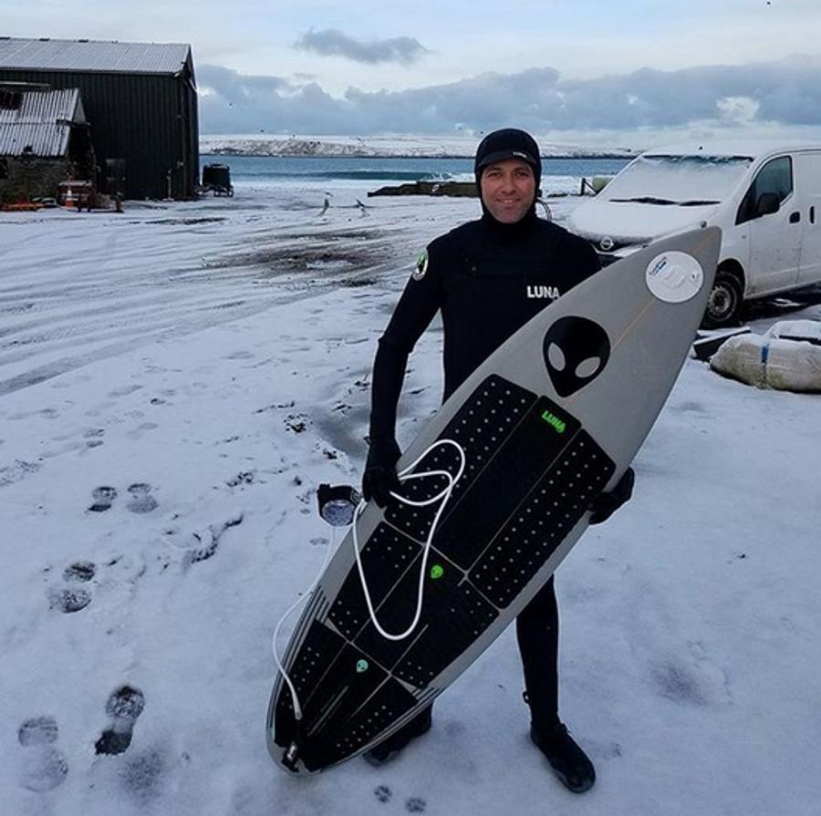Ian Battrick Lunasurf 6.4mm hooded wetsuit - Scotland.