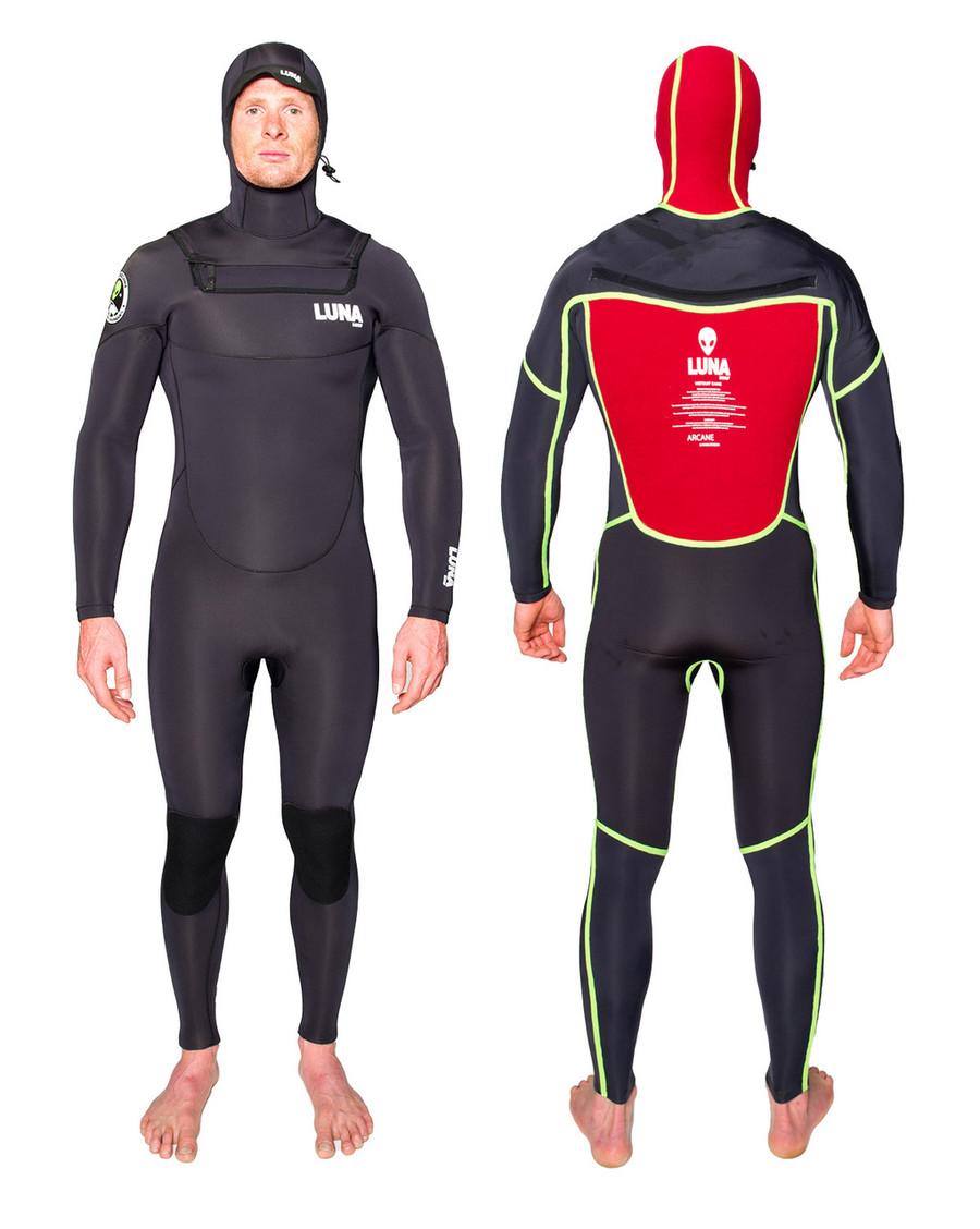 Lunasurf Yamamoto 6/4 hooded wetsuit