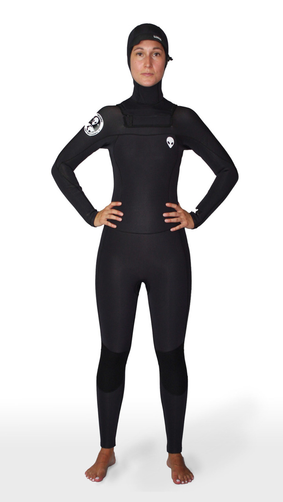 6.4mm hooded womens wetsuit