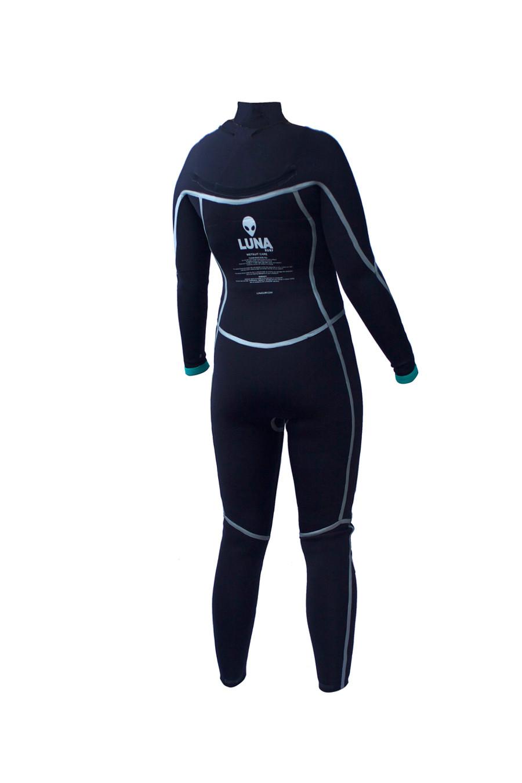womens 3.2mm Yamamoto wetsuit inside back