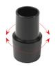 "1.5"" (38mm) x 15' (4.6m) Black Varioflex Crushproof Hose VC with Swivel Cuffs"