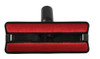 Bottom view of the 9 inch velvet nozzle sofa tool with thread collector.