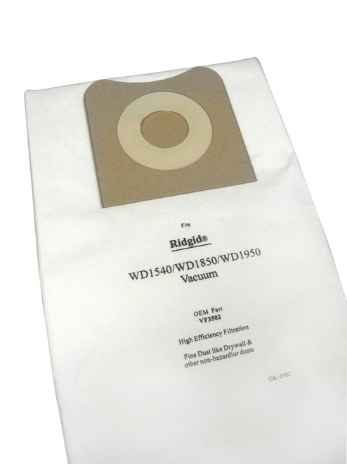 5 Packages of 2 High Efficiency Paper Vacuum Bags for ProTeam Model ProGuard 15/20