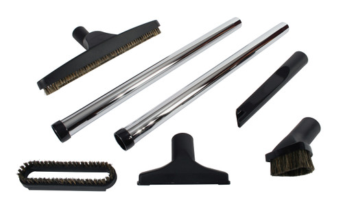 7 Piece Deluxe Vacuum Accessory Kit with Metal Wands
