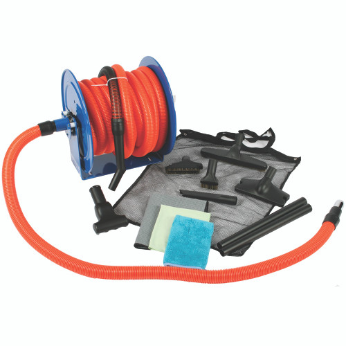 50 Foot Premium Garage Vacuum Kit with Hose Reel