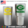 Green Bay Packers Football Tumbler Decal