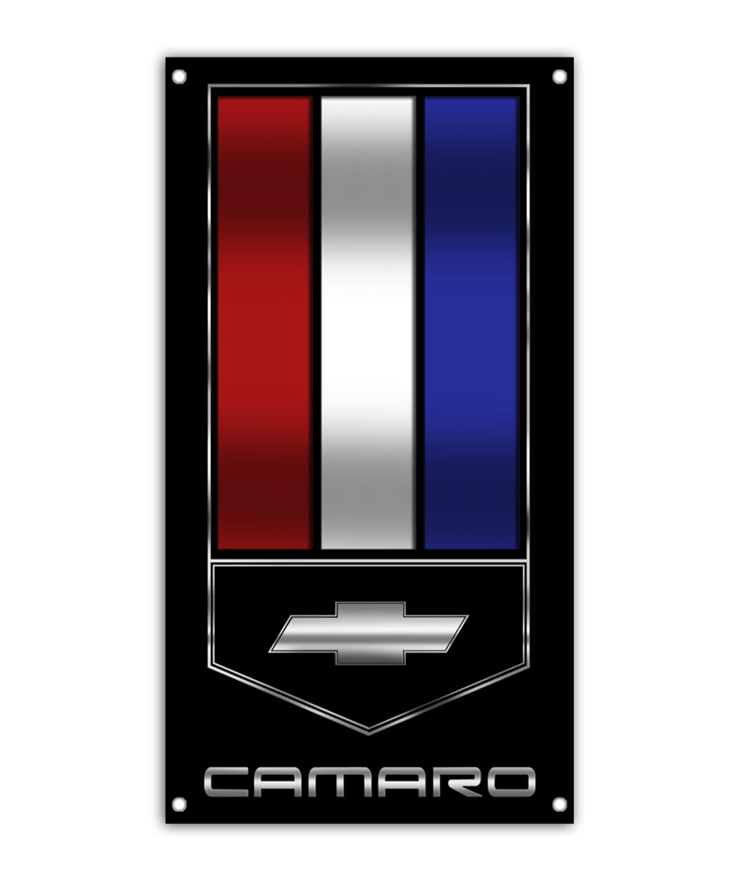 Camaro Emblem Banner Aftershock Decals