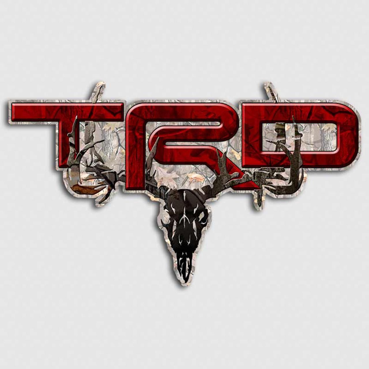 Red Camo TRD Deer Skull Tundra Truck Decals
