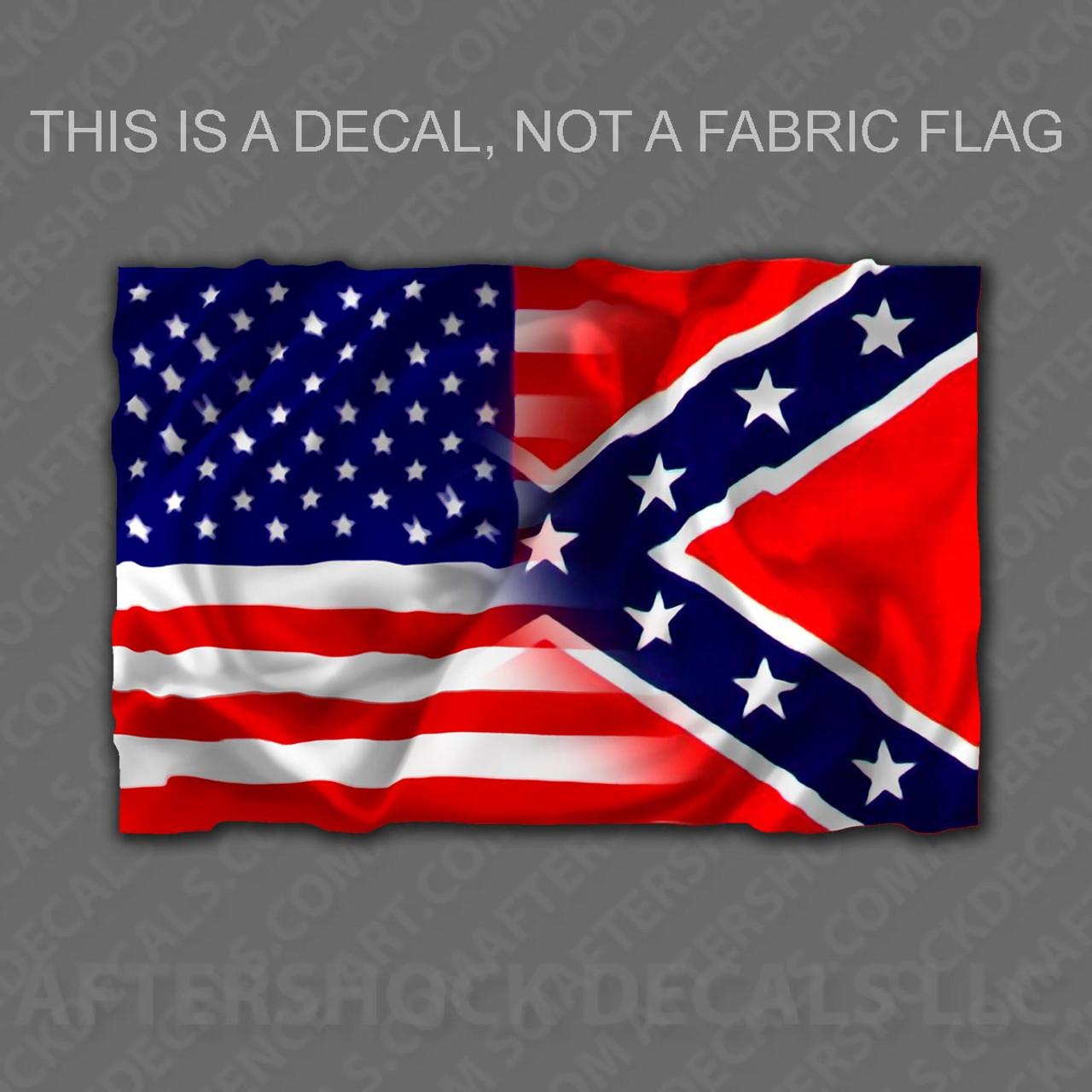 american rebel flag sticker aftershock decals