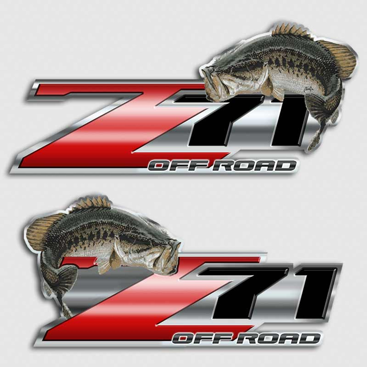 Bass Fishing Z71 Chevy Truck Decal Silverado Fish Sticker