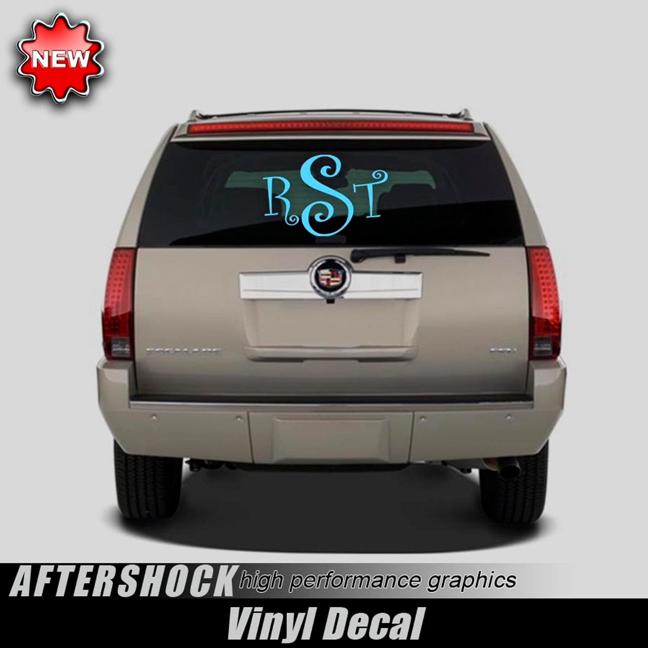 Monogrammed Rear Window Decal X Aftershock Decals - Back window decals for trucks