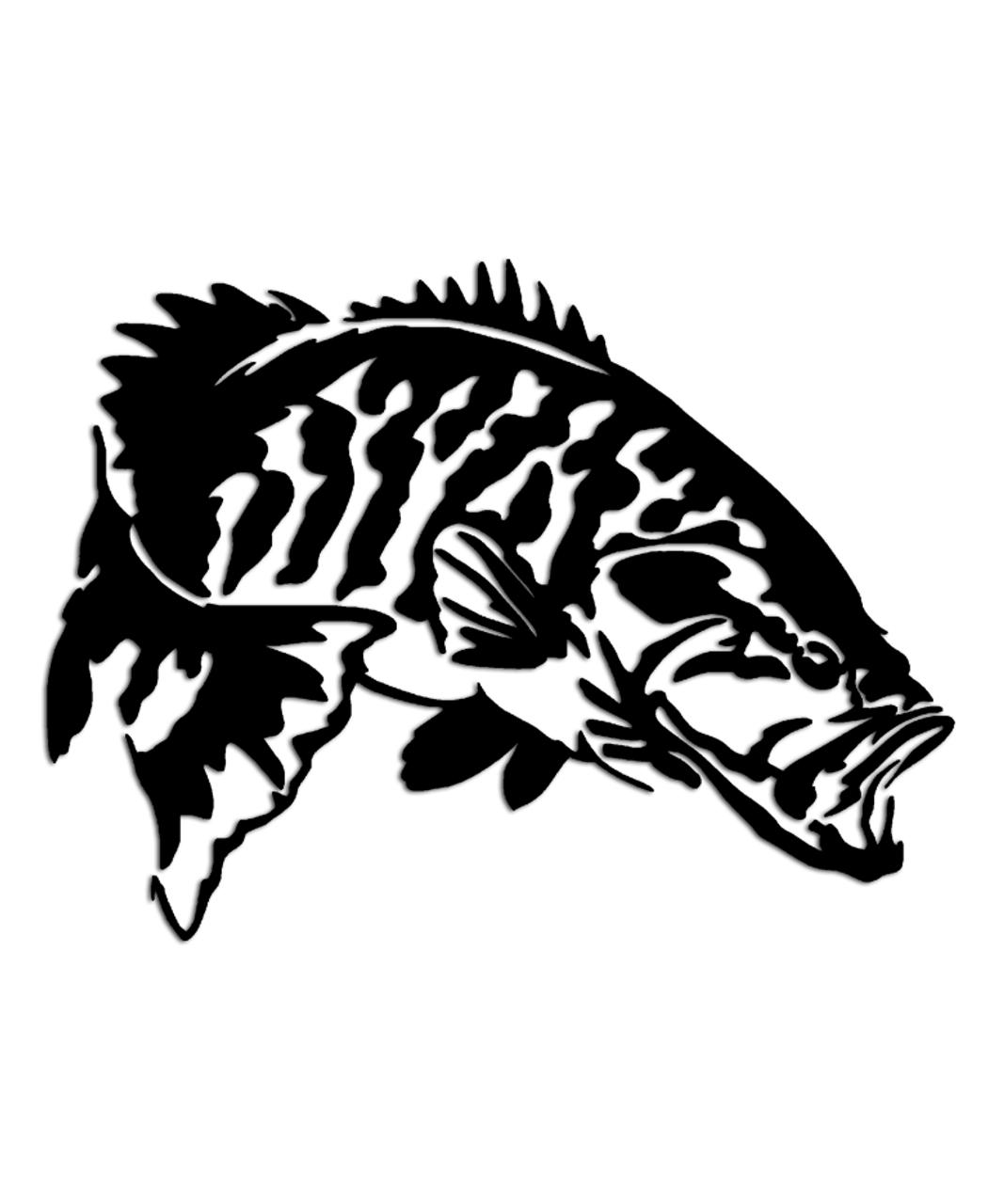 smallmouth bass fishing sticker