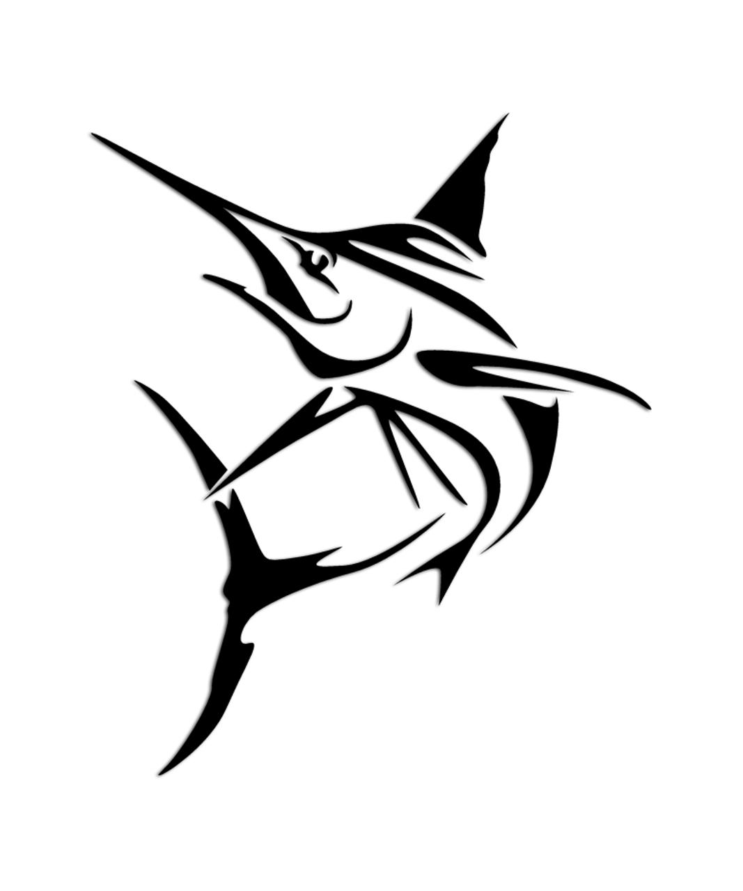 Marlin tribal fishing sticker