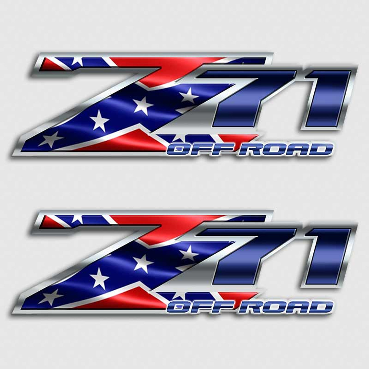 Z71 Rebel Flag Off Road Sticker Set Aftershock Decals