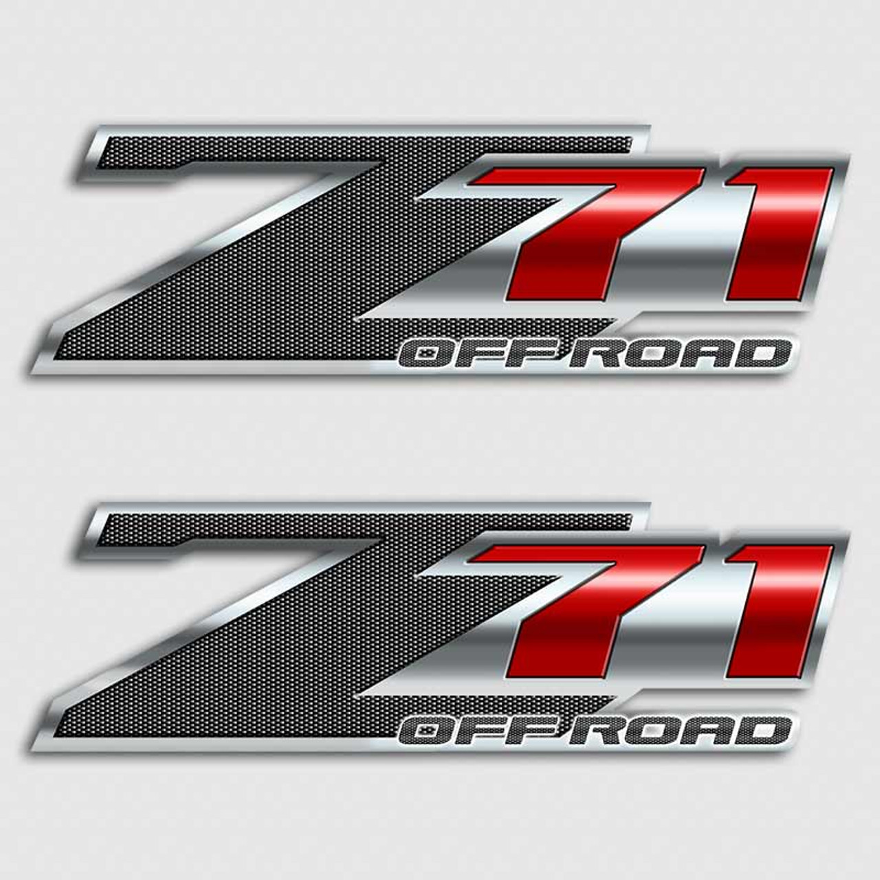 Z71 Carbon Fiber Red Off Road Chevy Style Truck Decal Sticker