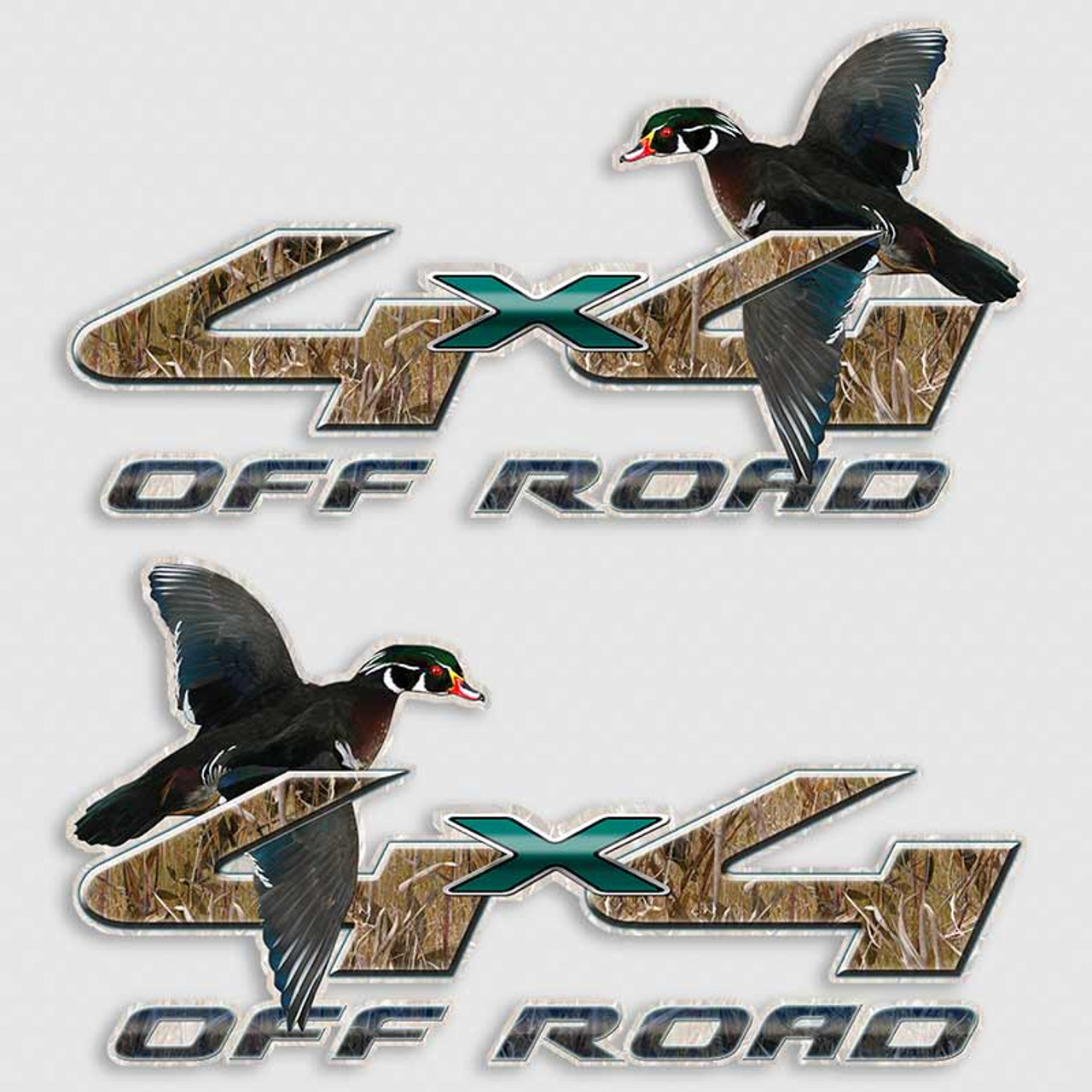Wood Duck Ford X Truck Decals Waterfowl Hunting Sticker - Hunting decals for truckshuntingfishing window decals in white or camouflage at woods