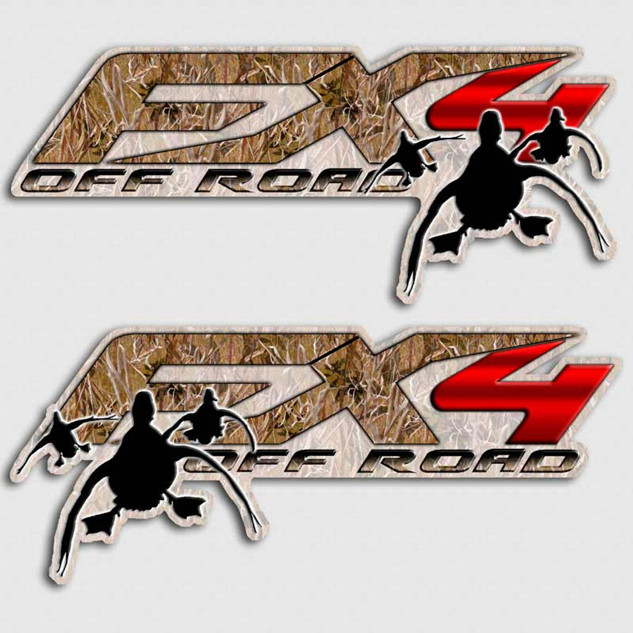 FX Duck Hunting Stickers Aftershock Decals - Hunting decals for truckshuntingfishing window decals in white or camouflage at woods