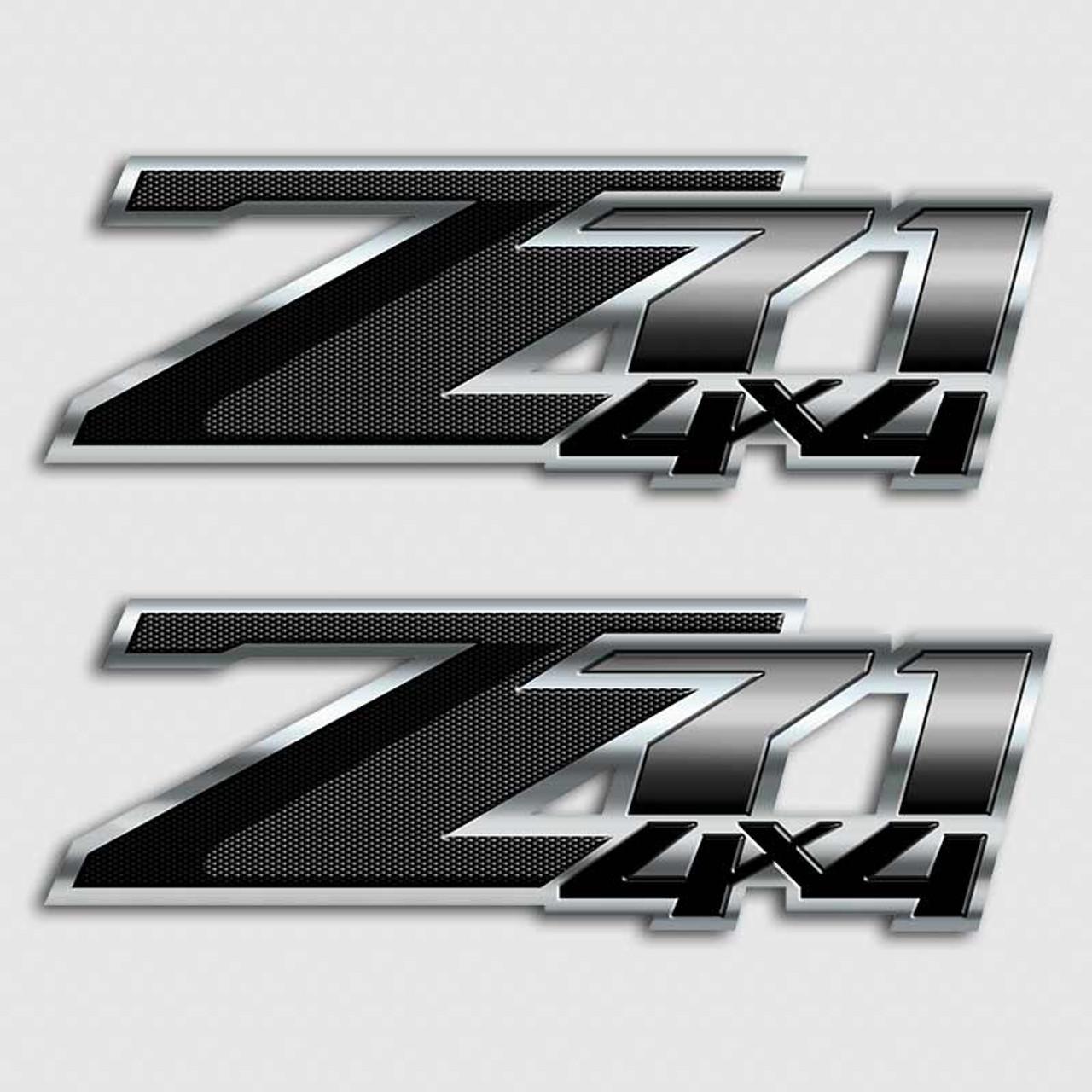 Z71 Black Carbon Fiber Silverado Truck Decal Chevy Gmc