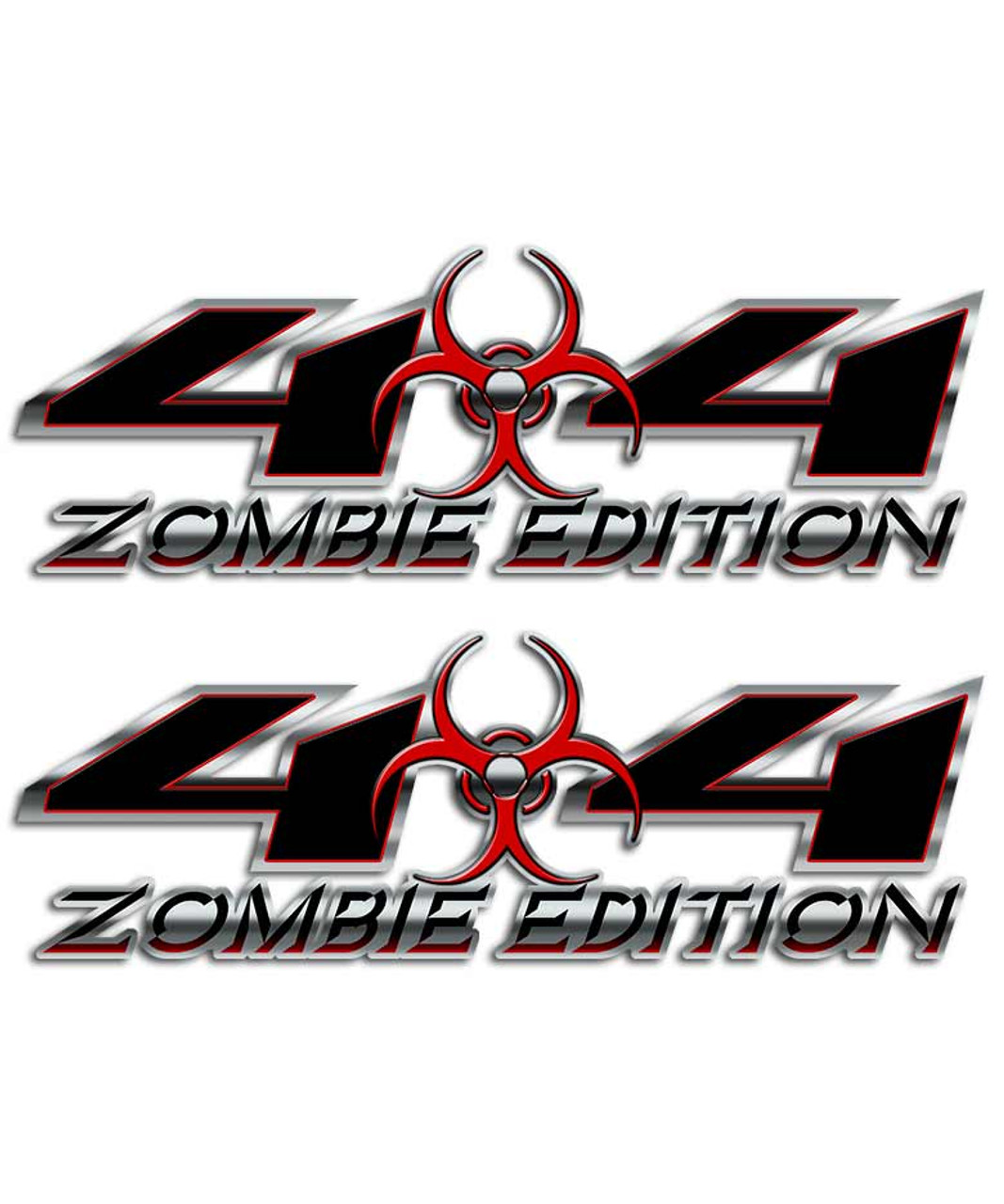 Zombie 4x4 biohazard sticker set