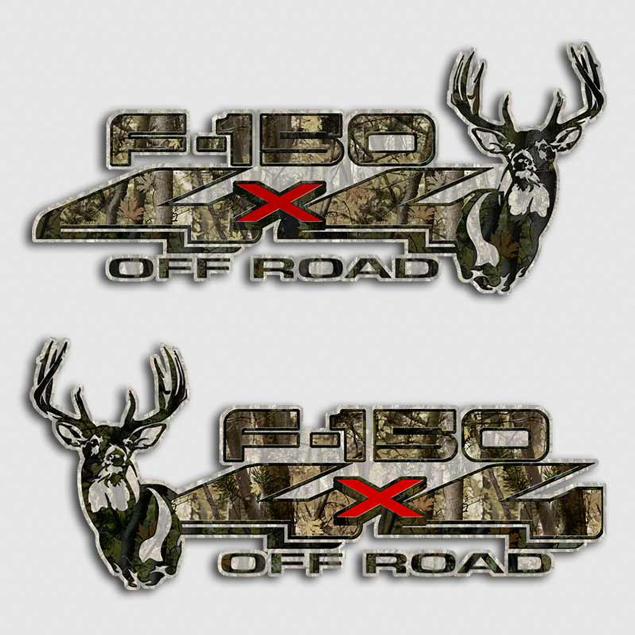 Ford F 150 Whitetail Deer Camouflage Truck Decals Off