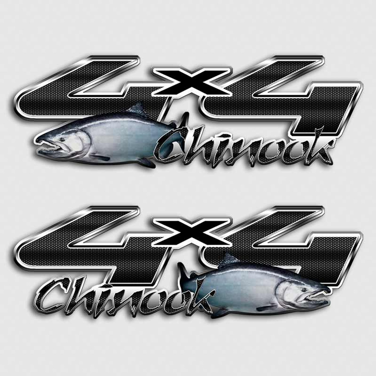 Chinook Salmon Truck Decals Alaskan Angler Ford Truck Decals
